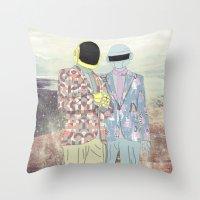 daft punk Throw Pillows featuring Daft Punk. by Lucas Eme A