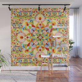 Rainbow Carousel Starburst Wall Mural