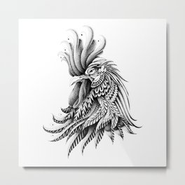 Ornately Decorated Rooster Metal Print