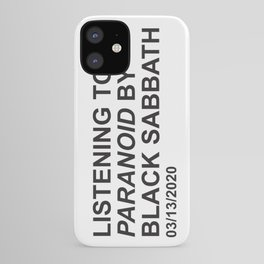 listening to paranoid iPhone Case