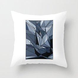 polygonal abstract Throw Pillow