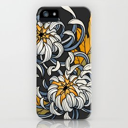 Entwined Chrysanthemums iPhone Case