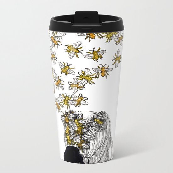 The Arrival of the Bee Box Metal Travel Mug