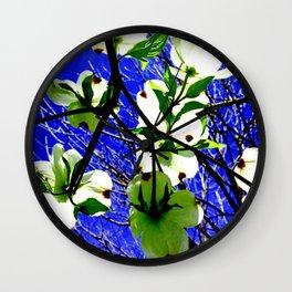 Bright Delight Dogwood Wall Clock