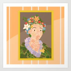 Flora by  Giuseppe Arcimboldo Art Print