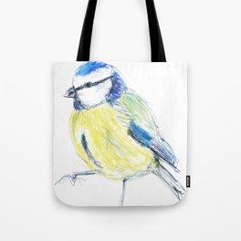 Beautiful Blue Tit Garden Bird Tote Bag