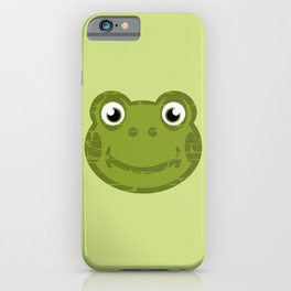 Cute Frog Face iPhone Case