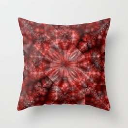 Fractal Imagination I - Ruby Throw Pillow