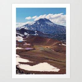 South Sister Mountain Lakes Art Print