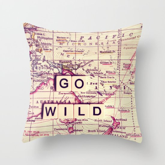 go wild Throw Pillow