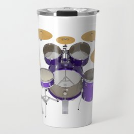 Purple Drum Kit Travel Mug