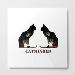 Cat minded Metal Print