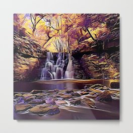 Goit Stock Waterfall Art Metal Print