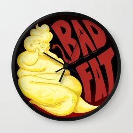 Bad Fat (Red) Wall Clock