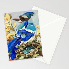 Blue Jay Bird Nest Stationery Cards