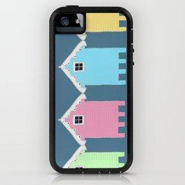 British Seaside Beach Huts iPhone Case