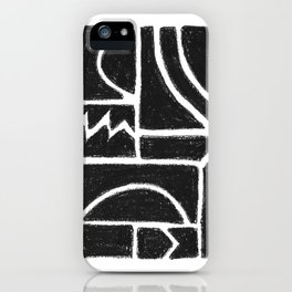 Charcoal Pattern iPhone Case
