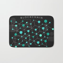 Cool Bitcoin crypto currency block chain Bath Mat