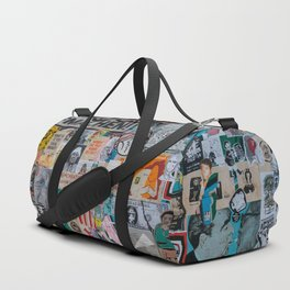 Sticker and graffiti wall background 2 - Berlin street art photography Duffle Bag