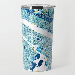 New York City Map United states full color Travel Mug