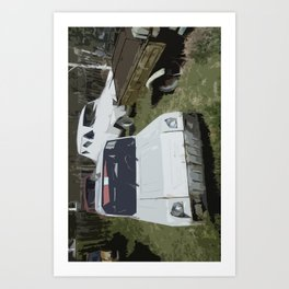 Russian Car Art Print