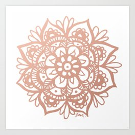 Rose Gold Mandala Art Print