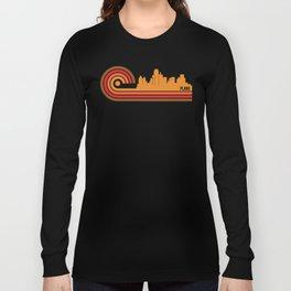 Retro Style Plano Texas Skyline Long Sleeve T-shirt