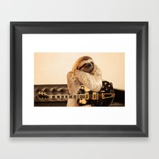 Rockstar Sloth Framed Art Print