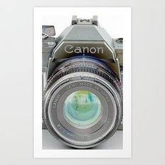 Old Canon AE-1 Camera Art Print
