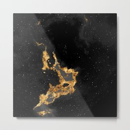 100 Starry Nebulas in Space Black and White 018 (Square) Metal Print