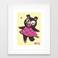 agnes Framed Art Prints featuring Agnes by seaeyedraw