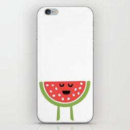 CHEERING HAPPY WATERMELON iPhone Skin