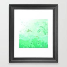 Dolphins Swimming Framed Art Print