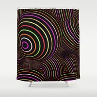 funky Shower Curtains featuring Funky Balls by MehrFarbeimLeben