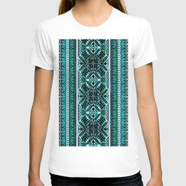 fair isle star in teal T-shirt