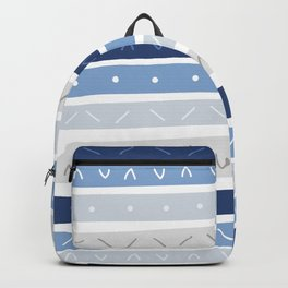 Bowie Blue Stripe Backpack