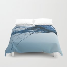 Blue Danube, Pacific Sea Nettle Duvet Cover