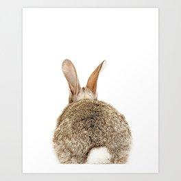 Bunny Tail Print by Zouzounio Art Art Print