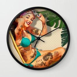 Beach Pin-up Wall Clock