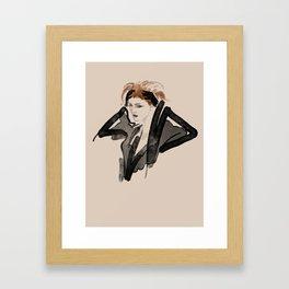 Black Boudoir Framed Art Print