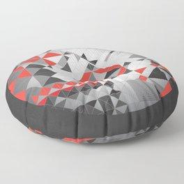 Splash of red Floor Pillow