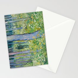 Undergrowth with Two Figures by Vincent van Gogh, 1890 Stationery Cards