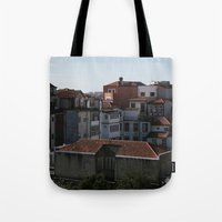portugal Tote Bags featuring Porto Portugal  by Sanchez Grande