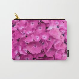 Artful Pink Hydrangeas Floral Design Carry-All Pouch