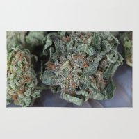medical Area & Throw Rugs featuring Master Kush Medical Marijuana by BudProducts.us