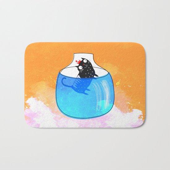 CAT IN A GOLDFISH BOWL Bath Mat