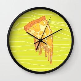 Cheesy Pizza Wall Clock