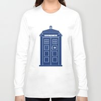 blueprint Long Sleeve T-shirts featuring TARDIS Blueprint - Doctor Who by BeckiBoos