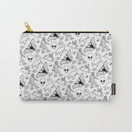 Cryptid Lineart Pattern 2 (White) Carry-All Pouch