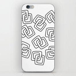 Chain Link Art Black and White iPhone Skin